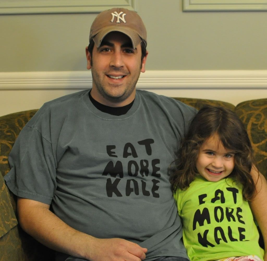 lilly and daddy love kale