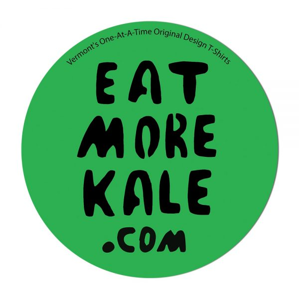 Single Sticker with Eat More Kale Design